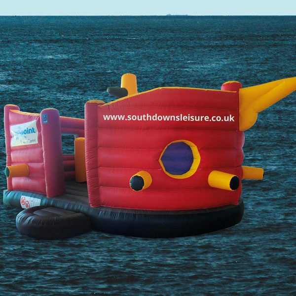 Pirate ship bouncy castle party