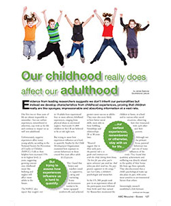 Childhood to Adulthood article