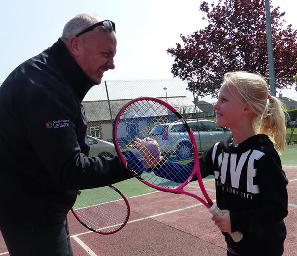 Coached Tennis Lessons with Colin Piper