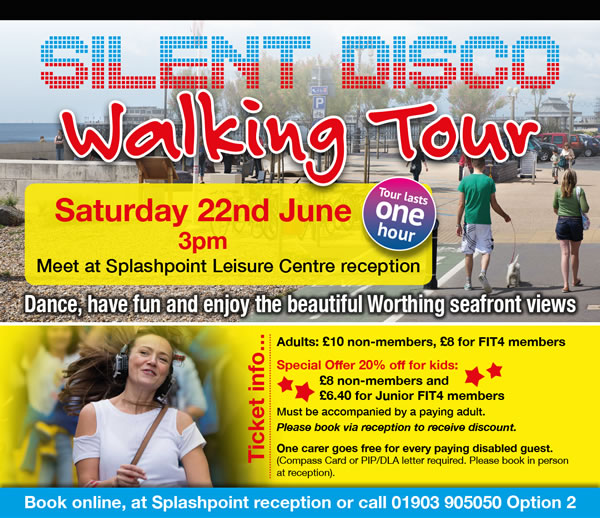 Silent Disco Walking Tour on Saturday 22nd June