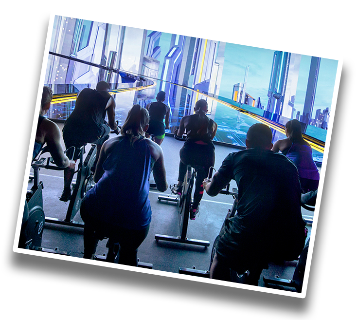 Les Mills The Trip Immersive Spin Class