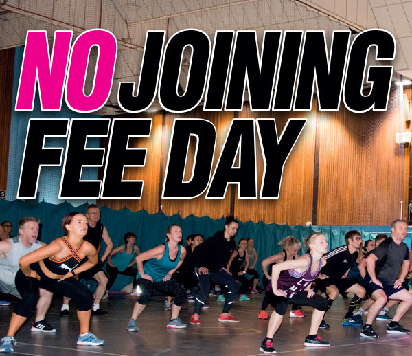 No Joining Fee Day - Saturday 22nd February 2020
