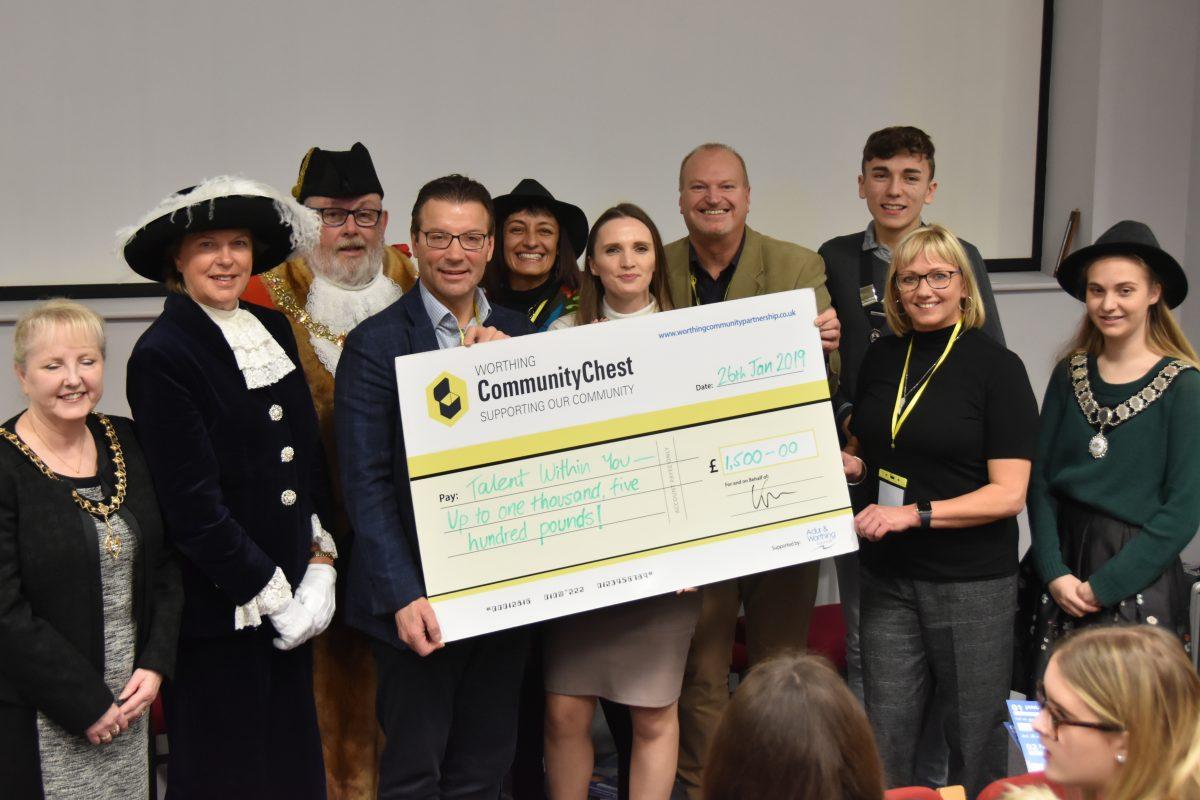 Worthing Community Chest cheque presentation
