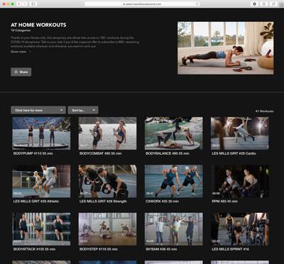 Les Mills Online Exercise Portal
