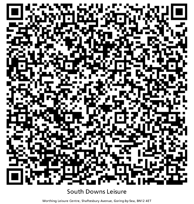 Worthing Leisure Centre QR code